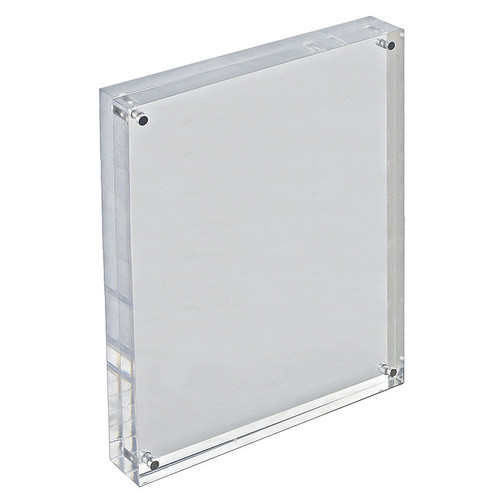 """Clear Acrylic Magnetic Photo Frame Block  8.5"""" x 11"""" Vertical/Horizontal"""