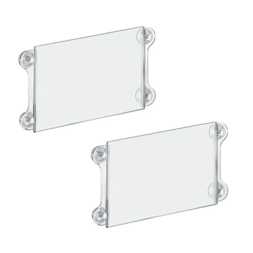 Clear Acrylic Window/Door Sign Holder Frame with Suction Cups 11''W x 8.5''H