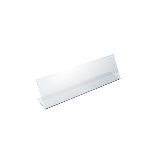"""Angled L-Shaped Sign Holder Frame with Slant Back Design 8""""x 2''High- Horizontal/Landscape, Photo Booth, 10-Pack"""