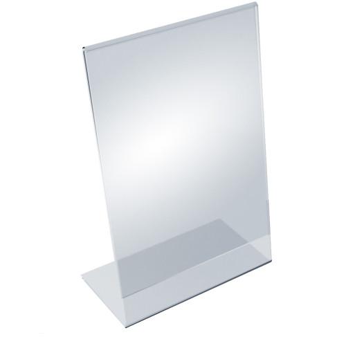 """Angled L-Shaped Sign Holder Frame with Slant Back Design 8.5""""x 14''High- Vertical/Portrait,10-Pack"""