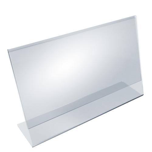 """Angled L-Shaped Sign Holder Frame with Slant Back Design 14""""x 8.5''High- Horizontal/Landscape, 10-Pack"""