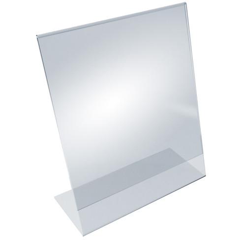 """Angled L-Shaped Sign Holder Frame with Slant Back Design 11""""x 17''High- Vertical/Portrait, 10-Pack"""