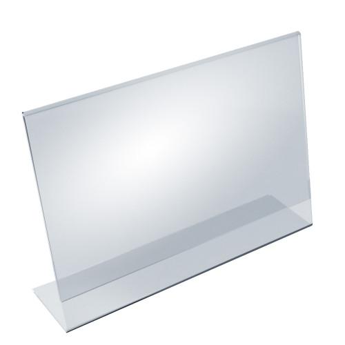 """Angled L-Shaped Sign Holder Frame with Slant Back Design 17""""x 11''High- Horizontal/Landscape, 10-Pack"""