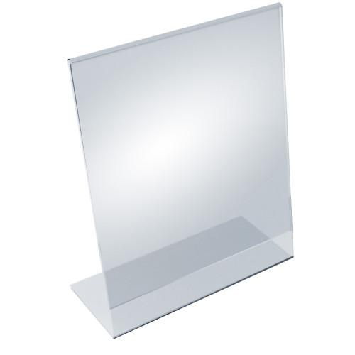 """Angled L-Shaped Sign Holder Frame with Slant Back Design 11""""x 14''High- Vertical/Portrait, 10-Pack"""