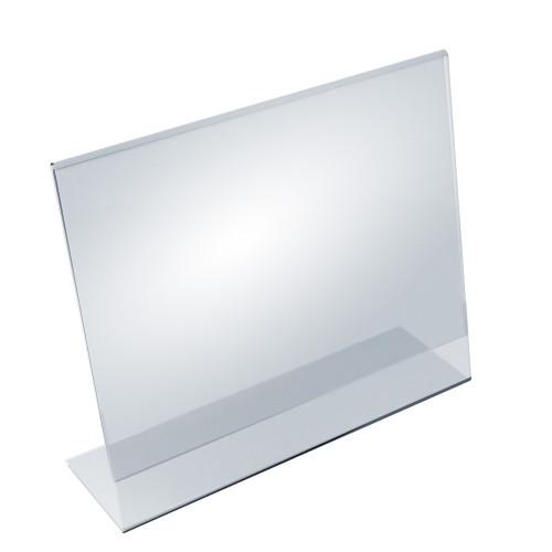 """Angled L-Shaped Sign Holder Frame with Slant Back Design 14""""x 11''High- Horizontal/Landscape, 10-Pack"""