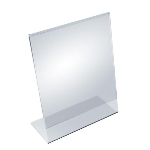 """Angled L-Shaped Sign Holder Frame with Slant Back Design 8.5""""x 11''High- Vertical/Portrait, 10-Pack"""