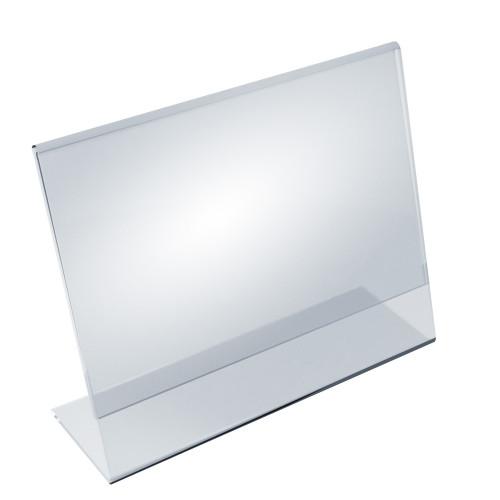 """Angled L-Shaped Sign Holder Frame with Slant Back Design 11""""x 8.5''High- Horizontal/Landscape, 10-Pack"""