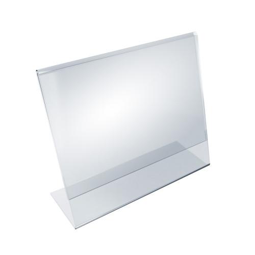 """Angled L-Shaped Sign Holder Frame with Slant Back Design 11""""x 7''High- Horizontal/Landscape, 10-Pack"""