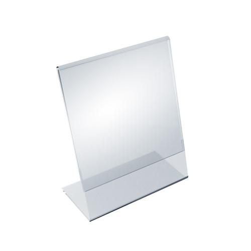 """Angled L-Shaped Sign Holder Frame with Slant Back Design 5.5""""x 7''High- Vertical/Portrait, 10-Pack"""