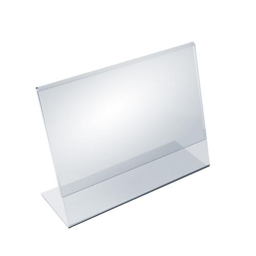 """Angled L-Shaped Sign Holder Frame with Slant Back Design 7""""x 5.5''High- Horizontal/Landscape,10-Pack"""