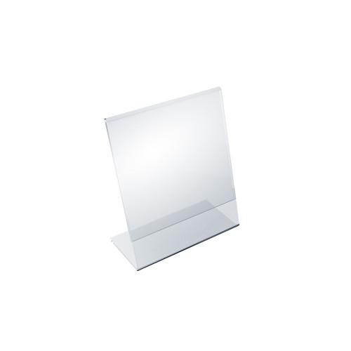"""Angled L-Shaped Sign Holder Frame with Slant Back Design 5""""x 6''High- Vertical/Portrait, 10-Pack"""