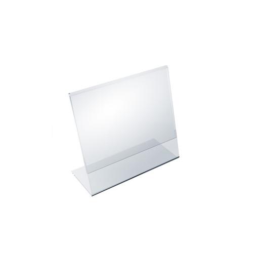 """Angled L-Shaped Sign Holder Frame with Slant Back Design 6""""x 5''High- Horizontal/Landscape, 10-Pack"""