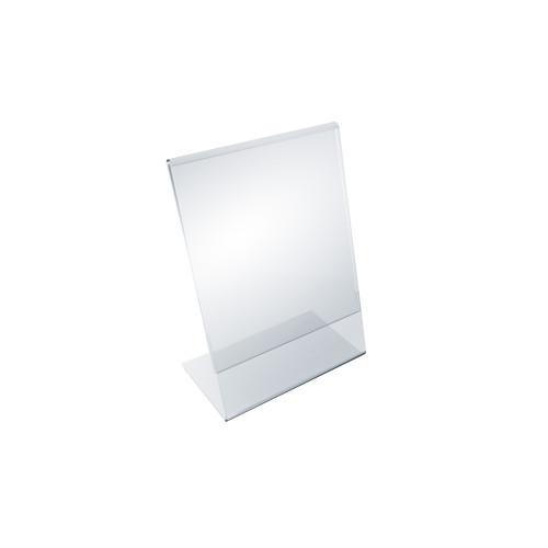 """Angled L-Shaped Sign Holder Frame with Slant Back Design 4""""x 6''High- Vertical/Portrait, 10-Pack"""