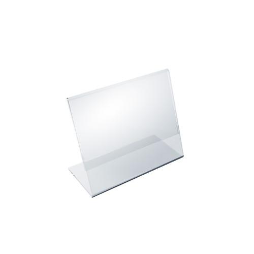 """Angled L-Shaped Sign Holder Frame with Slant Back Design 6""""x 4''High- Horizontal/Landscape, 10-Pack"""