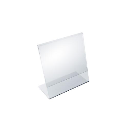 """Angled L-Shaped Sign Holder Frame with Slant Back Design 5""""x 5''High- Square, 10-Pack"""