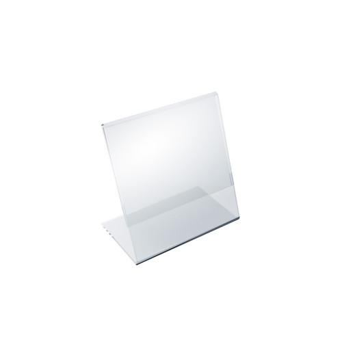 """Angled L-Shaped Sign Holder Frame with Slant Back Design 3.5""""x 4.5''High- Vertical/Portrait, 10-Pack"""