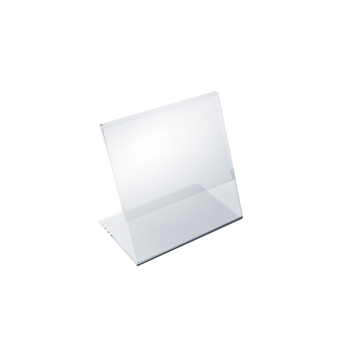 """Angled L-Shaped Sign Holder Frame with Slant Back Design 3.5""""x 3.5''High- Square, 10-Pack"""