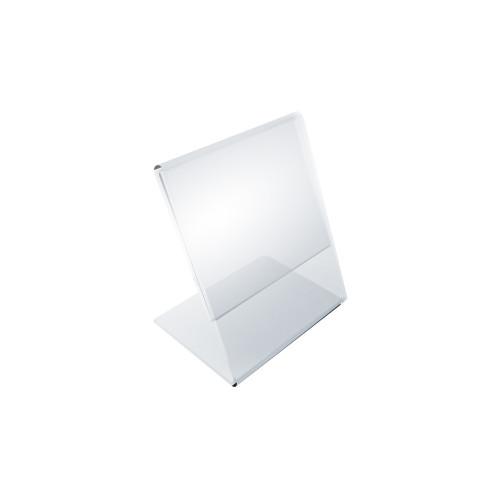 """Angled L-Shaped Sign Holder Frame with Slant Back Design 2.5""""x 3.5''High- Vertical/Portrait, 10-Pack"""