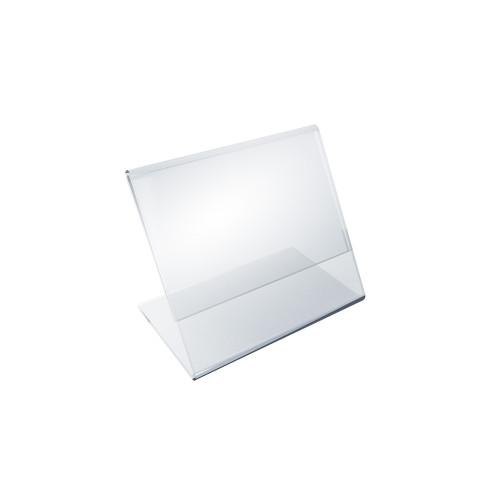 "Angled L-Shaped Sign Holder Frame with Slant Back Design 3""x 2''High- Horizontal/Landscape. Photo Booth Size, 10-Pack"