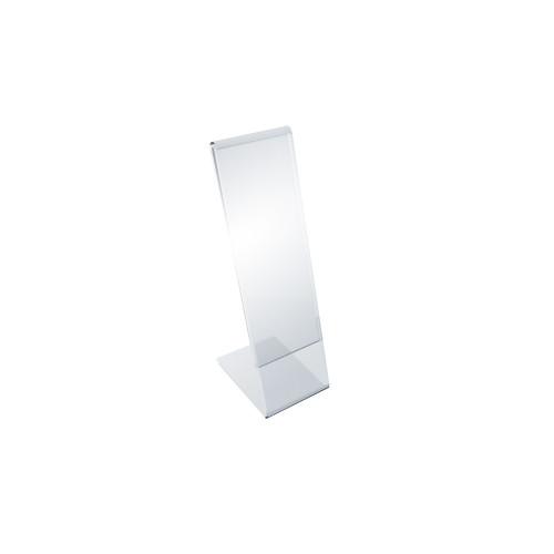 "Angled L-Shaped Sign Holder Frame with Slant Back Design 2"" x 7"" High-Vertical, Photo Booth Size"