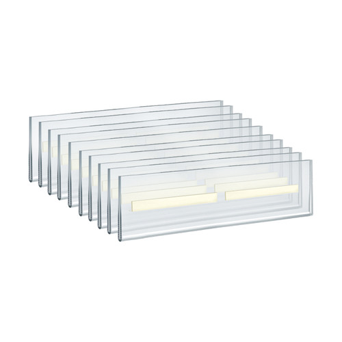 """Self Adhesive Tape Clear Acrylic Wall Sign Holder Frame 11.5"""" W x 2.5"""" H - Landscape/Horizontal"""