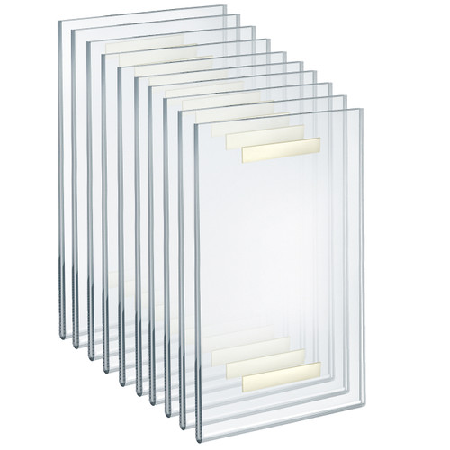 """Self Adhesive Clear Acrylic Wall Sign Holder Frame  8.5"""" W x 14"""" H -Portrait/ Vertical"""