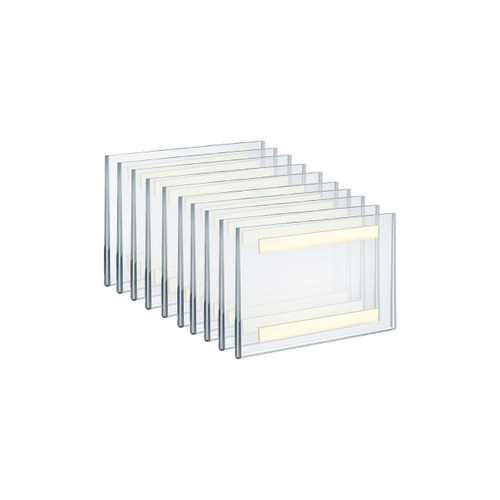 """Self Adhesive Tape Clear Acrylic Wall Sign Holder Frame 6"""" W x 4"""" H - Landscape/Horizontal"""