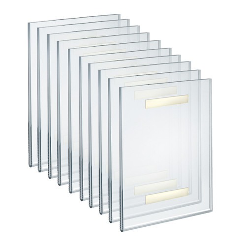 "Self Adhesive Clear Acrylic Wall Sign Holder Frame 8.5"" W x 11"" H- Portrait/Vertical"