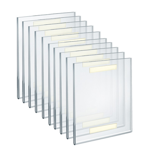 """Self Adhesive Clear Acrylic Wall Sign Holder Frame 8"""" W x 10"""" H Portrait / Vertical"""
