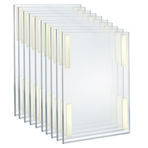 """Self Adhesive Clear Acrylic Wall Sign Holder Frame 11"""" W x 17"""" H - Portrait / Vertical"""