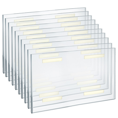 """Self Adhesive Clear Acrylic Wall Sign Holder Frame 17"""" W x 11"""" H -Landscape / Horizontal"""