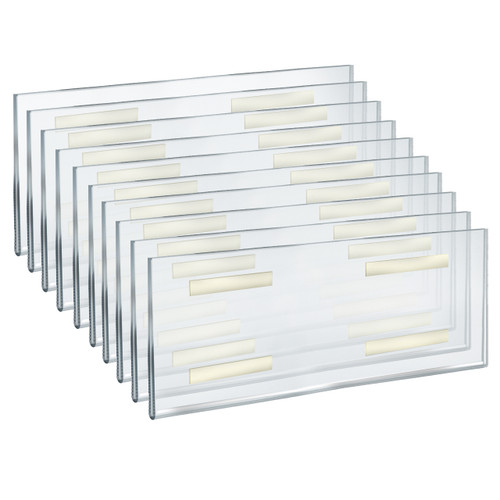 """Self Adhesive Clear Acrylic Wall Sign Holder Frame 16"""" W x 6"""" H -Landscape/Horizontal"""