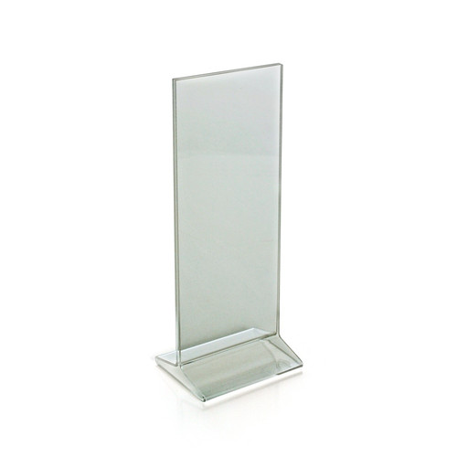 """Top Loading Clear Acrylic T-Frame Sign Holder 4.25"""" Wide x 11'' High-Vertical"""