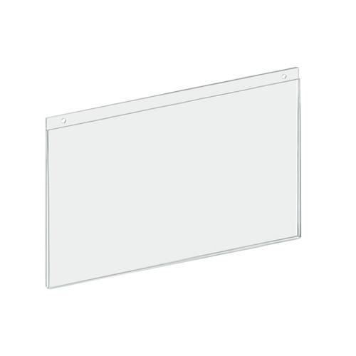 """Clear Acrylic Wall Hanging Frame 14"""" wide x 8.5'' High - Horizontal/Landscape"""