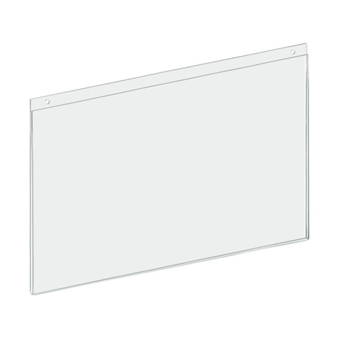 "Clear Acrylic Wall Hanging Frame 17"" Wide x 11'' High- Horizontal/Landscape, 10-Pack"