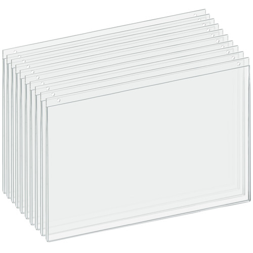 """Clear Acrylic Wall Hanging Frame 17"""" Wide x 11'' High- Horizontal/Landscape, 10-Pack"""