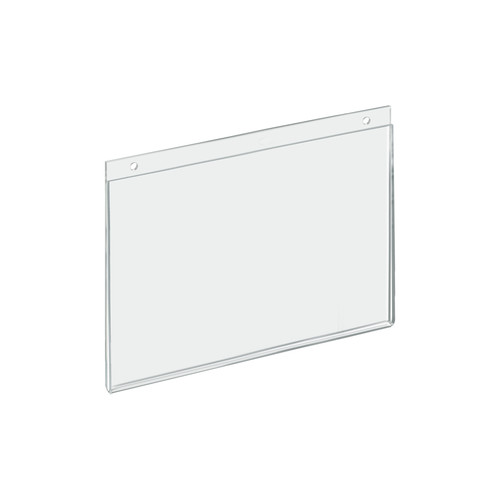 """Clear Acrylic Wall Hanging Frame 12"""" Wide x  9'' High - Horizontal/Landscape"""