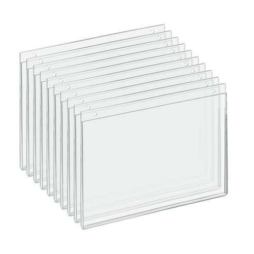 """Clear Acrylic Wall Hanging Frame 12"""" Wide x  9'' High- Horizontal/Landscape, 10-Pack"""
