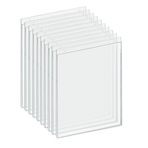 """Clear Acrylic Wall Hanging Frame 8.5"""" Wide x 11'' High- Vertical/Portrait, 10-Pack"""