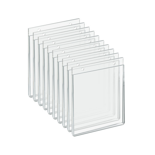 """Clear Acrylic Wall Hanging Frame 5.5"""" Wide x  7'' High Vertical/Portrait, 10-Pack"""
