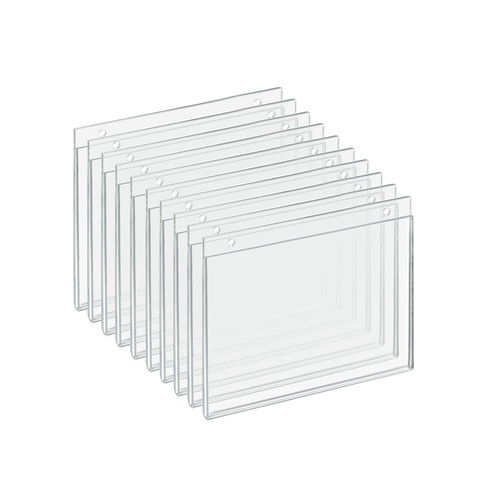 """Clear Acrylic Wall Hanging Frame 7"""" Wide x  5.5"""" High - Horizontal/Landscape, 10-Pack"""