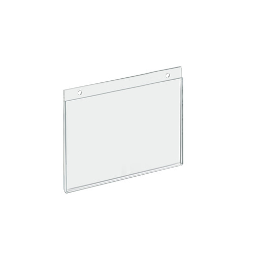 """Clear Acrylic Wall Hanging Frame 7"""" Wide x  5'' High - Horizontal/Landscape"""