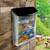 """Clear Frosted Outdoor Wall Mount Letter Brochure Holder w/Black Lid and Screws for  8.5""""W x 11""""H Literature"""