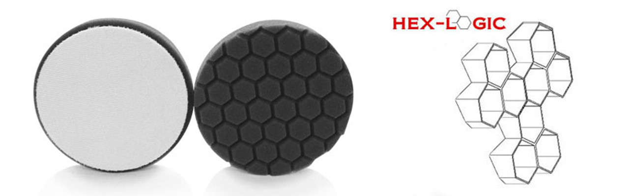 "Chemical Guys 4"" HEX LOGIC Pad BLACK FINISHING PAD WAXES & CLEANERS WAXES (4""inch)"