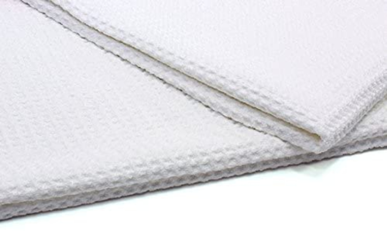 Mammoth All-White Glass Towel, Waffle Weave Microfibre Cloth