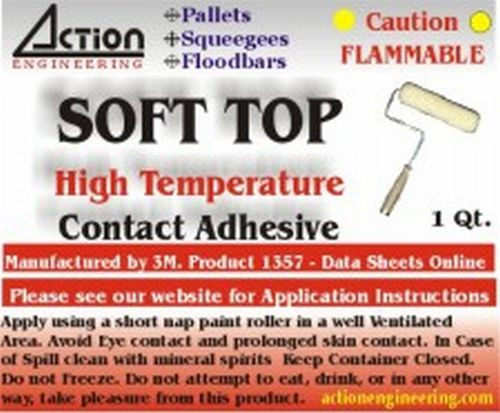 Soft Top Rubber Adhesive for Screen Printing Pallets