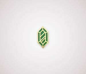 Rupee Pin - Gold & Green