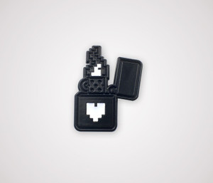 Pixel Lighter Pin - Black