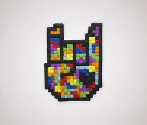 8-bit Rock Patch - Tetris