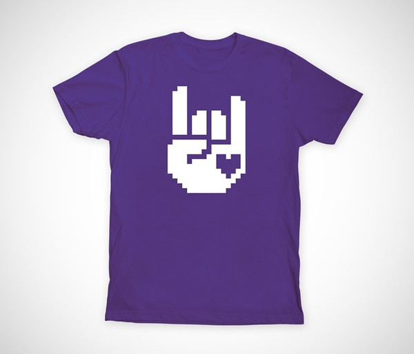 8-Bit Rock Purple Tee